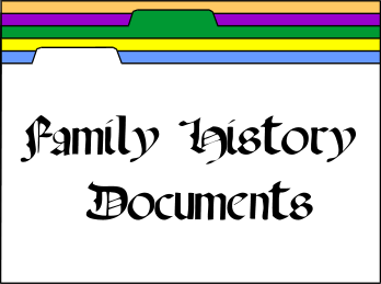 Family History Documents file folders