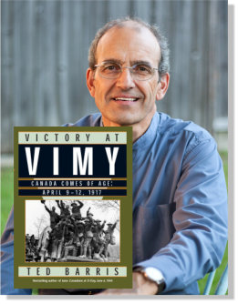 Ted Barris with Vimy cover